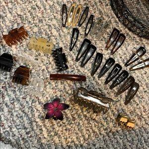 Large hair clip bundle